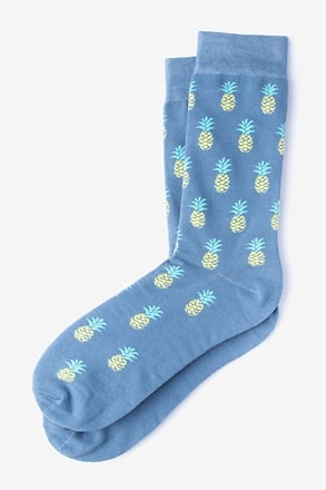 Pineapples Blue Sock