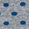 Blue Carded Cotton Power Dots Sock