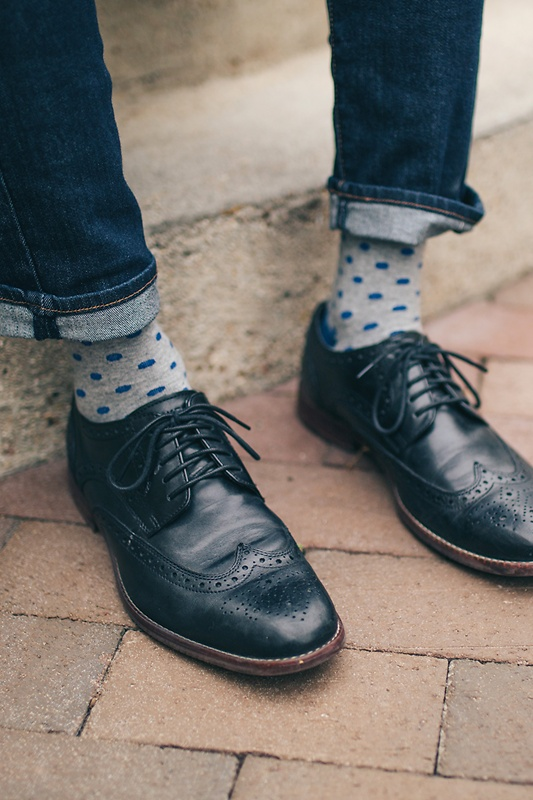 Power Dots Blue Sock Photo (1)