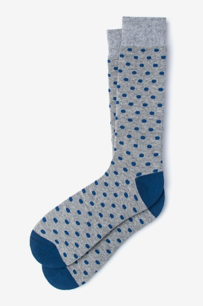 _Power Dots Blue Sock_