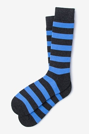 _Rugby Stripe Blue Sock_