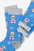 Santa's Lil' Yelpers Blue Women's Sock Photo (1)