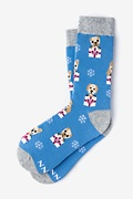 Santa's Lil' Yelpers Blue Women's Sock Photo (0)