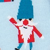 Blue Carded Cotton Sexy and I Gnome It Sock