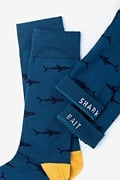 Shark Bait Blue Sock