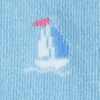 Blue Carded Cotton Ship Happens Women's Sock