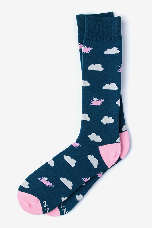 Take to the Sky Blue Sock Photo (0)