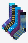 Blue Carded Cotton Tesla Sock Pack