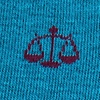 Scales of Justice | Lawyer Blue Sock