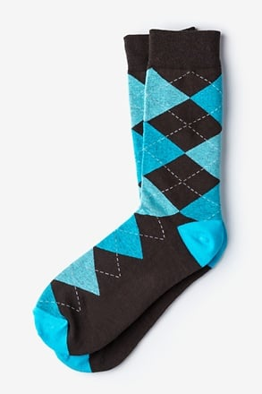 _Westminster Argyle Blue Sock_
