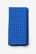 Blue Cotton Ashland Pocket Square