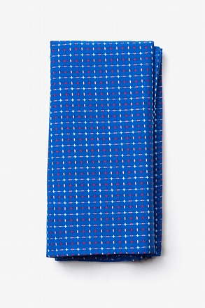 _Ashland Blue Pocket Square_