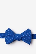 Blue Cotton Ashland Self-Tie Bow Tie