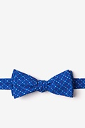 Blue Cotton Ashland Skinny Bow Tie