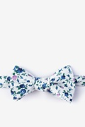 Blue Cotton Bellevue Self-Tie Bow Tie