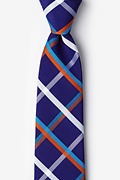 Blue Cotton Bellingham Extra Long Tie