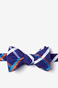 Blue Cotton Bellingham Self-Tie Bow Tie