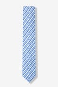 Blue Blair Houndstooth Skinny Tie