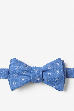 Blue Bradley Butterfly Bow Tie