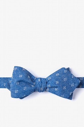 Blue Bradley Diamond Tip Bow Tie