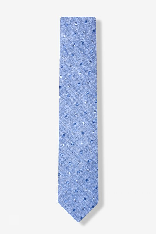 Blue Churchill Skinny Tie