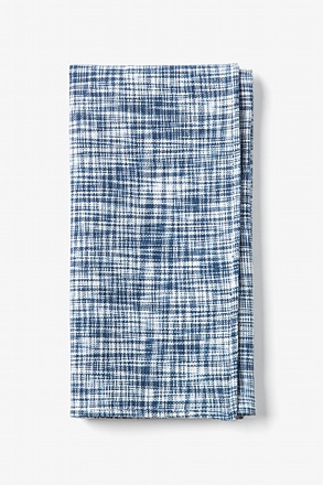 Blue Shah Pocket Square