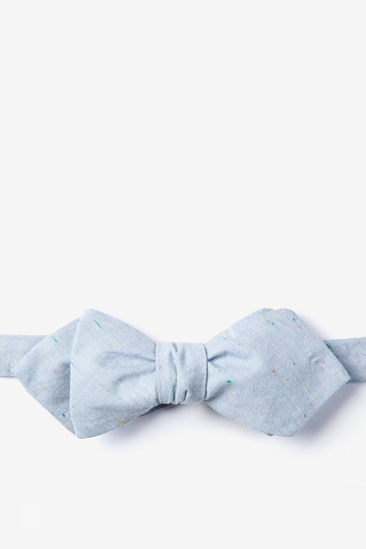 Blue Simplicity Speckle Diamond Tip Bow Tie