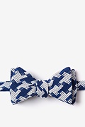 Blue Cotton Buckeye Thick Bow Tie