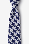 Blue Cotton Buckeye Thick Extra Long Tie