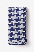 Blue Cotton Buckeye Thick Pocket Square