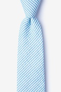 Blue Cotton Clyde Extra Long Tie