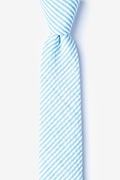 Blue Cotton Clyde Skinny Tie