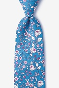 Blue Cotton Conejo Extra Long Tie
