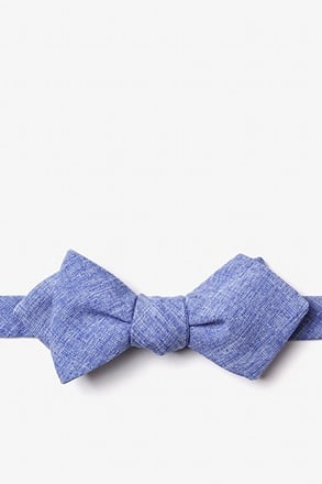 Denver Blue Diamond Tip Bow Tie