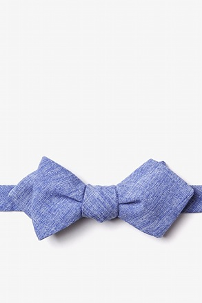 _Denver Blue Diamond Tip Bow Tie_