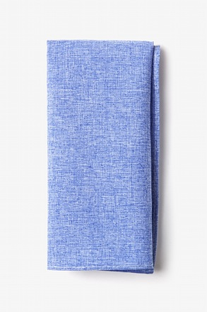 Denver Blue Pocket Square