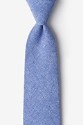 Blue Cotton Denver Tie