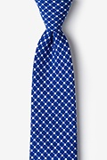 Blue Cotton descanso Extra Long Tie