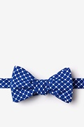 Blue Cotton Descanso Self-Tie Bow Tie