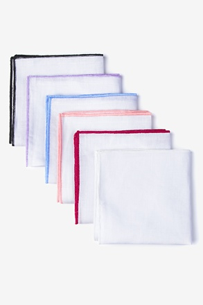 Edged Linen Pocket Square Pack