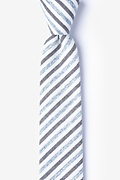 Blue Cotton Englewood Skinny Tie