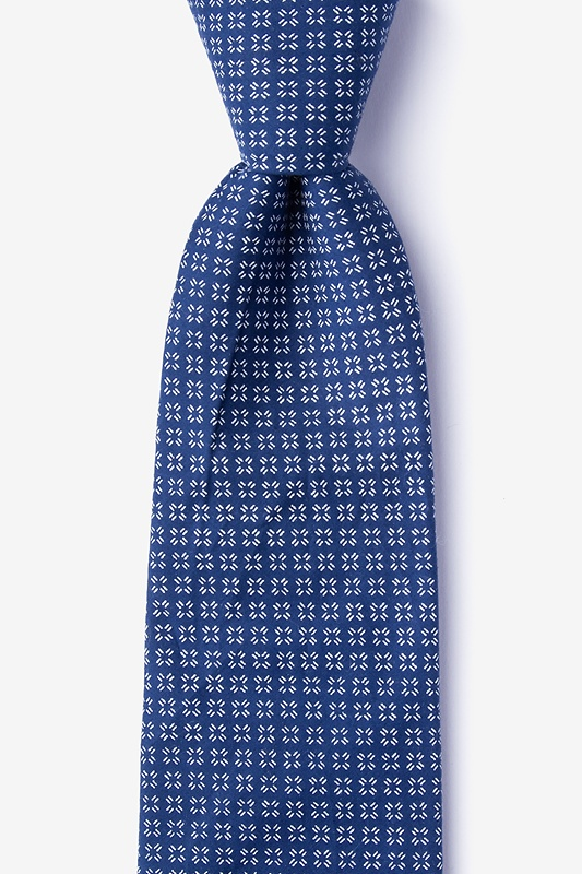 Fayette Blue Extra Long Tie Photo (0)