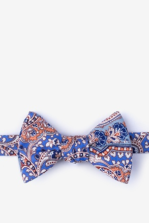 Gable Blue Self-Tie Bow Tie