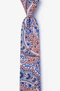 Blue Cotton Gable Skinny Tie