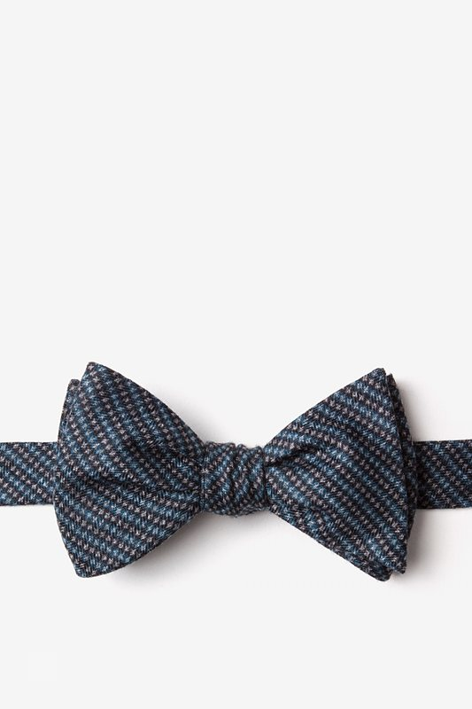 Gilbert Blue Self-Tie Bow Tie Photo (0)