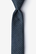 Blue Cotton Gilbert Skinny Tie