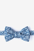 Blue Cotton Goddard Self-Tie Bow Tie