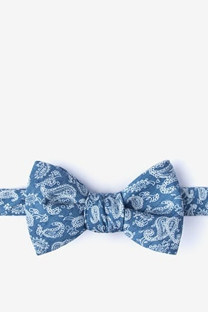 Goddard Blue Self-Tie Bow Tie