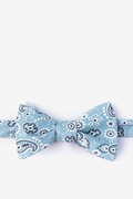 Blue Cotton Grove Self-Tie Bow Tie