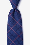 Blue Cotton Harley Extra Long Tie